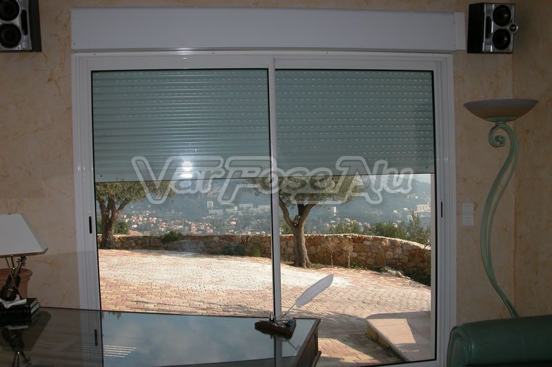 Nos r alisations var pose alu installation d 39 une baie for Installer une baie coulissante